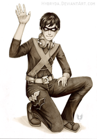 Robin The Boy Justice GRAYSCALE by Hybryda