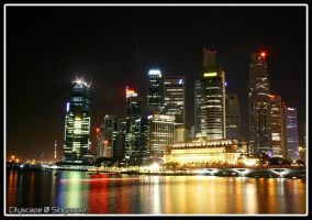 Singaporean Cityscape by Stratixfied