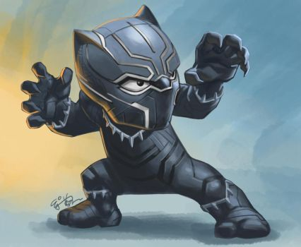 Civil War Black Panther by EJ-Su