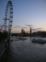 London at dusk by miss-disorientated