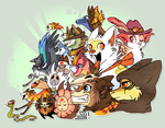 Colorful characters by griffsnuff