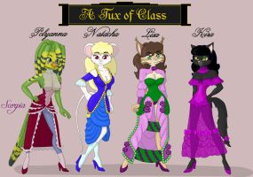 Victorian fashion models by elleboe