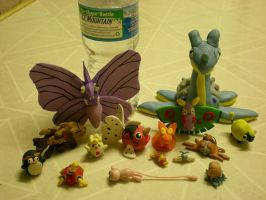 Clay pokemon by Foureyedalien