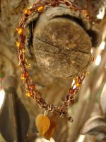 Fall Hemp Bracelet by wickeddreamer