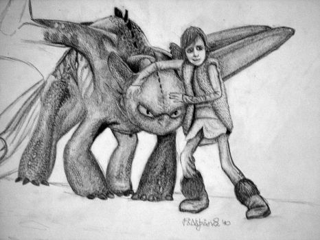 Toothless and Hiccup by Mewasmieszna