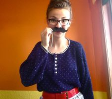 Moustache Necklace by FlamingChickCreation