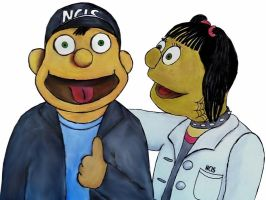Tony and Abby muppet-style by Mella68