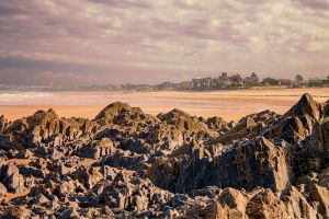 Beach of Granville Manche France by hubert61