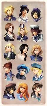 ALL THE NAVY LADIES by onemegawatt