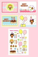 Pigtails Birthday theme by jazgirl