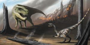 Tawa, Postosuchus and Late Triassic Wildfires by MicrocosmicEcology