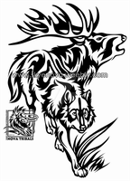 Wolf and Elk Tribal by Therbis