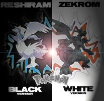 Pokemon Black and White Poster by LucariOH