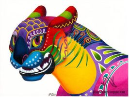 Oaxacan Big Cat: Mini-Bust by JillianLambertArt