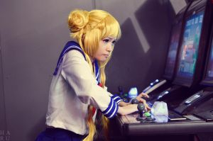 Sailor Moon: After School Arcade Gaming by xxpuffy