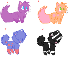 Adoptable Batch: Dogs and Cats: OPEN by PrincetonsMonster
