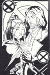 sketchy : Rogue and Gambit by KidNotorious