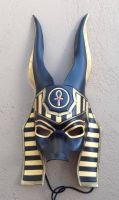 Custom Anubis Egyptian Jackal Leather Mask by senorwong