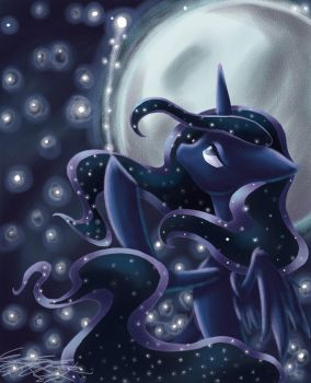 Longing Luna by Midnameowfries