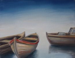 Three lonely boats by wildhorse1