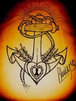 sailor anchor sketch by ShellyZTrueheartInk