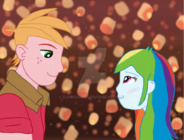 Now that I see you: Rainbow and Mac by KarmaDash