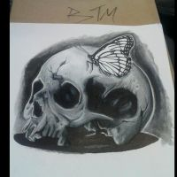 Skull and Butterfly 2 step by fbatman666