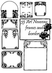 35 Art Nouveau Frame Brushes by dg-sama