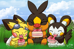 Cakes with Unova Pokemon by pichu90