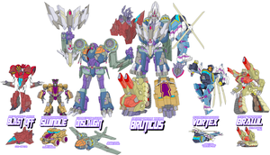 Decepticon Combaticons by Tyrranux