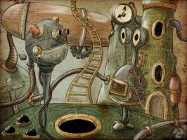 steampunk robots by Andyk77