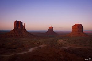 Sunset in Monument Valley by MCL28