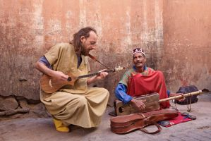 Street Jammin' at Marakech by georgeparis