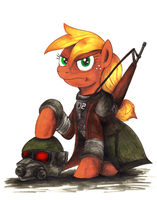 Commission - MLP. NCR Ranger Applejack by jamescorck