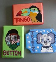Christmas Plaques by PlasticMittens