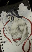 wolverine Logan copic marker commission by Sajad126