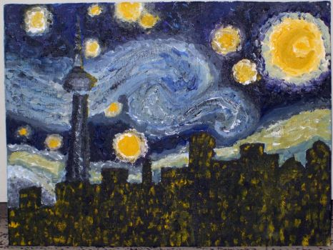 Starry Night Over T.O. by XIU-XING