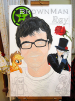 . : Painting Ray (RoosterTeeth) - Checkpoint 1 : . by MoogleKingdom13