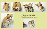 Shiba Couple - SOLD by Bittythings