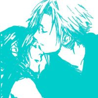Cloud and Aerith by taka0801
