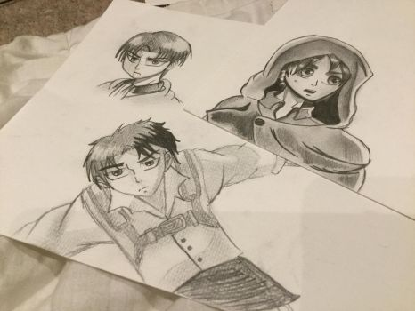 Eren and Levi Drawings by Wolfiexos