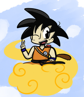 Kid Goku by DuckyDeathly