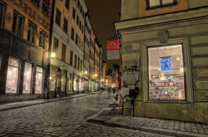 Old Town by Night by HenrikSundholm