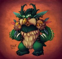Toube the Forest Troll Boomkin by bawky