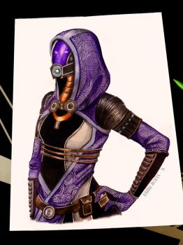 Tali'Zorah - Mass effect by BlueAquarelle