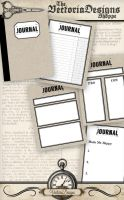 Printable Journal Cards by VectoriaDesigns