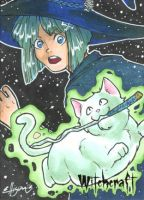 Witchcraft Sketch Card - Danielle Ellison 2 by Pernastudios