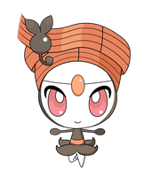 Meloetta -Pirouette Form- pokedoll label vector by Ika-chian