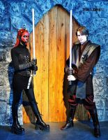 Darth Maul (rule 63) and Anakin by FlorBcosplay