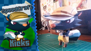 Animal Crossing New Leaf Papercraft ~ Kicks ~ by SuperRetroBro